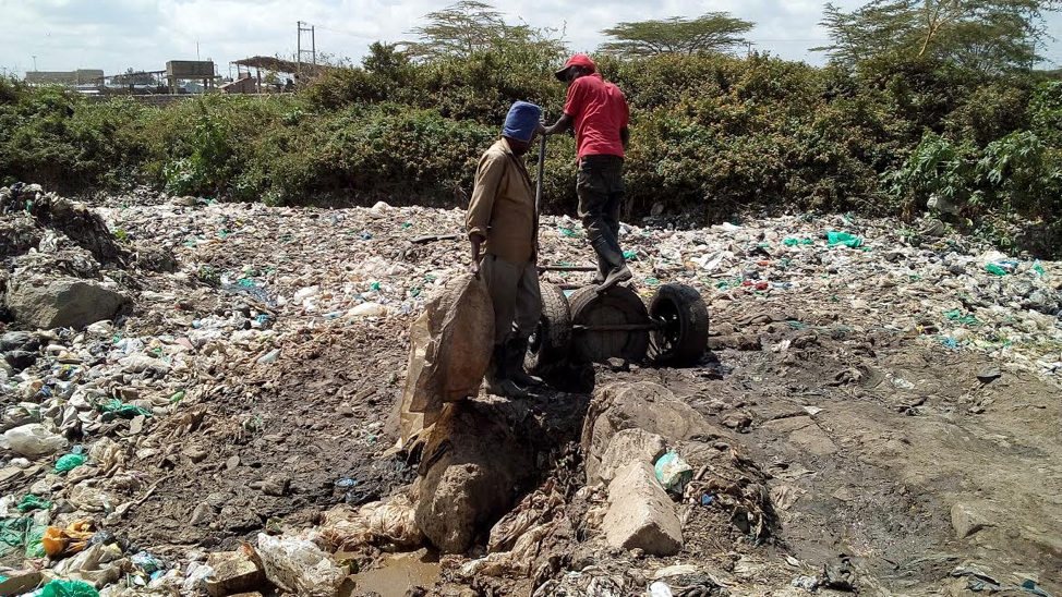 Trash haulers in Nairobi