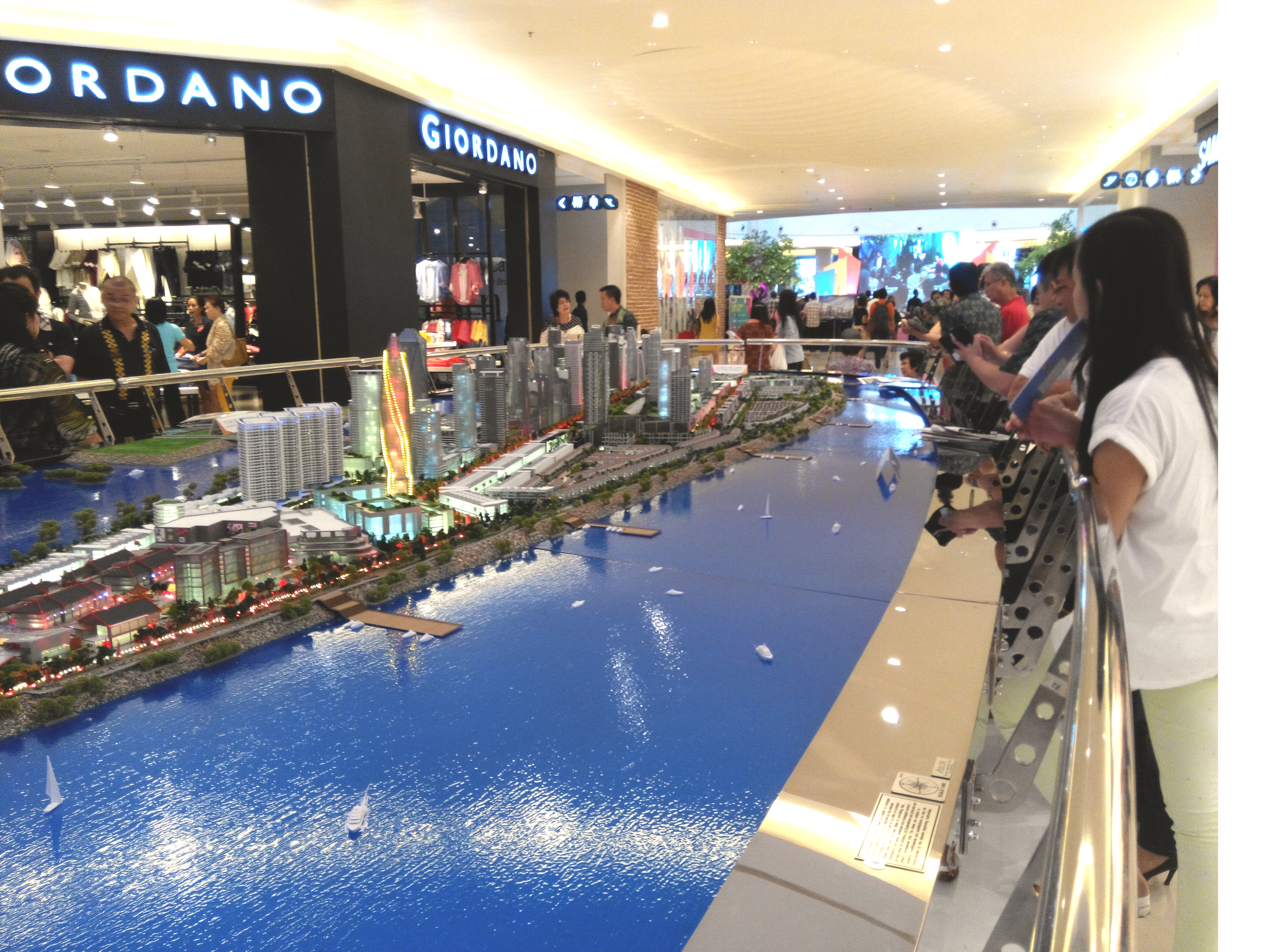 Housing model in Jakarta mall