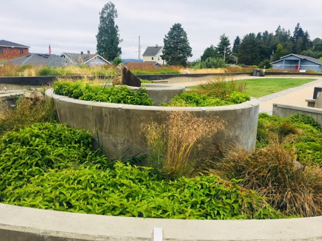 Manchester stormwater park in Kitsap County, WA
