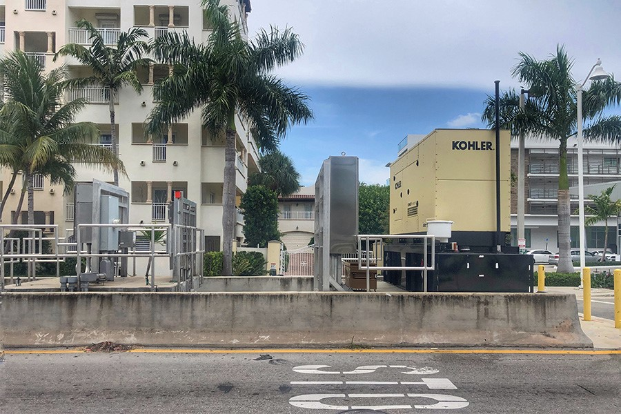 Storm water pump station in Miami Beach.